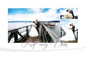 Collage für ein Hochzeitsbuch
