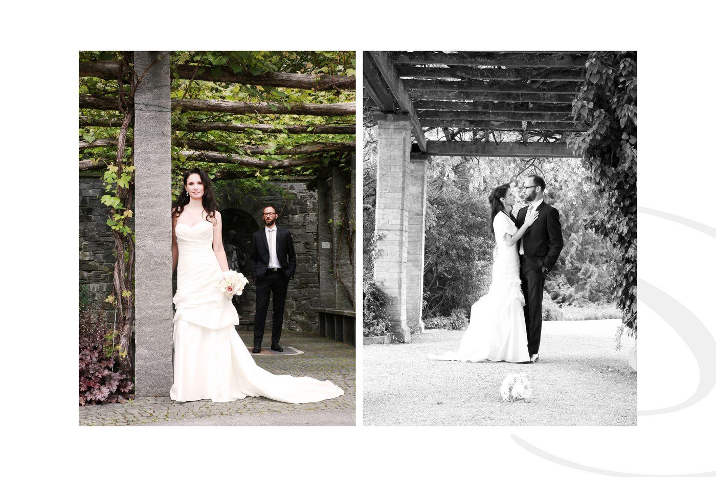 Brautpaar beim Fotoshooting auf der Insel Mainau am Bodensee