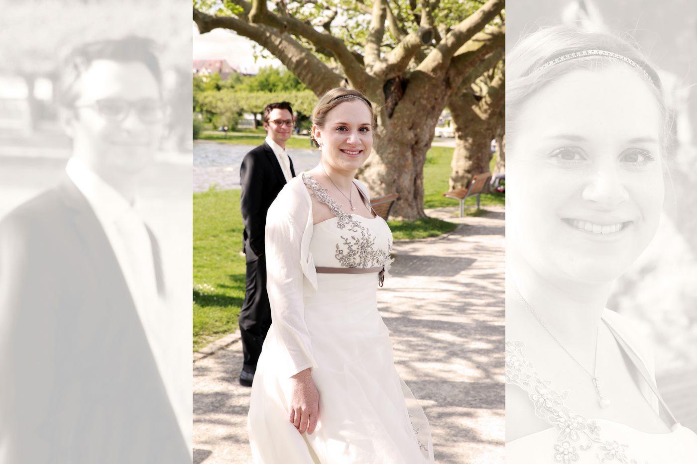 Brautpaar am Bodenseeufer in Radolfzell