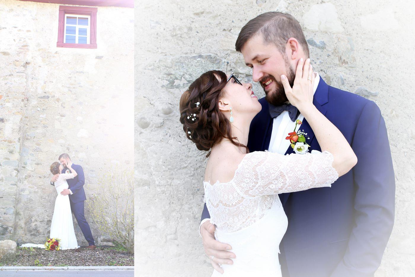 Sich liebendes Brautpaar