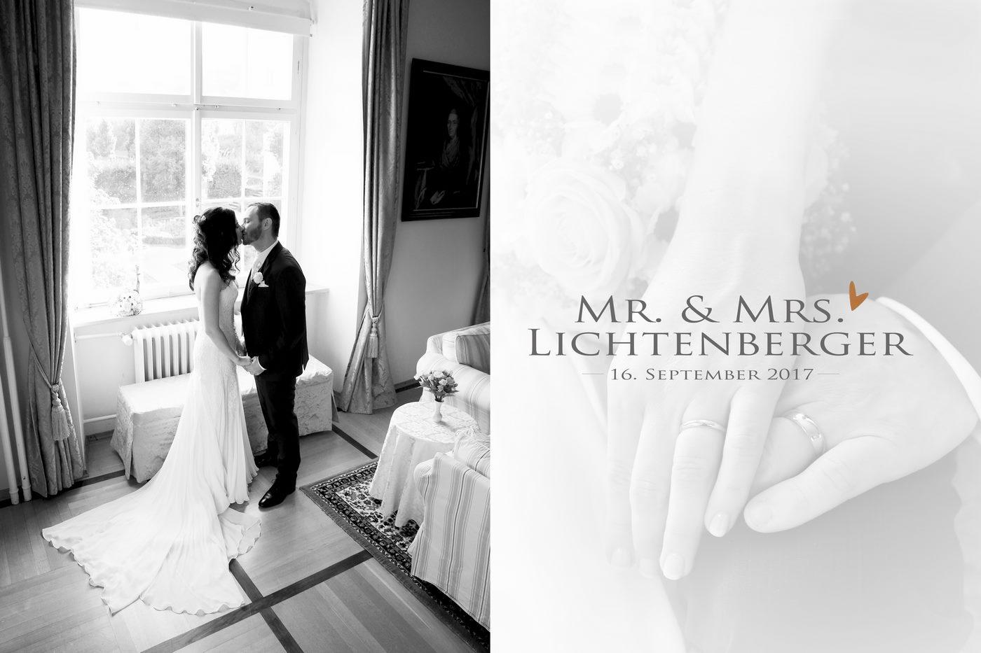 Brautpaar nach ihrem großen Tag im Hotelzimmer