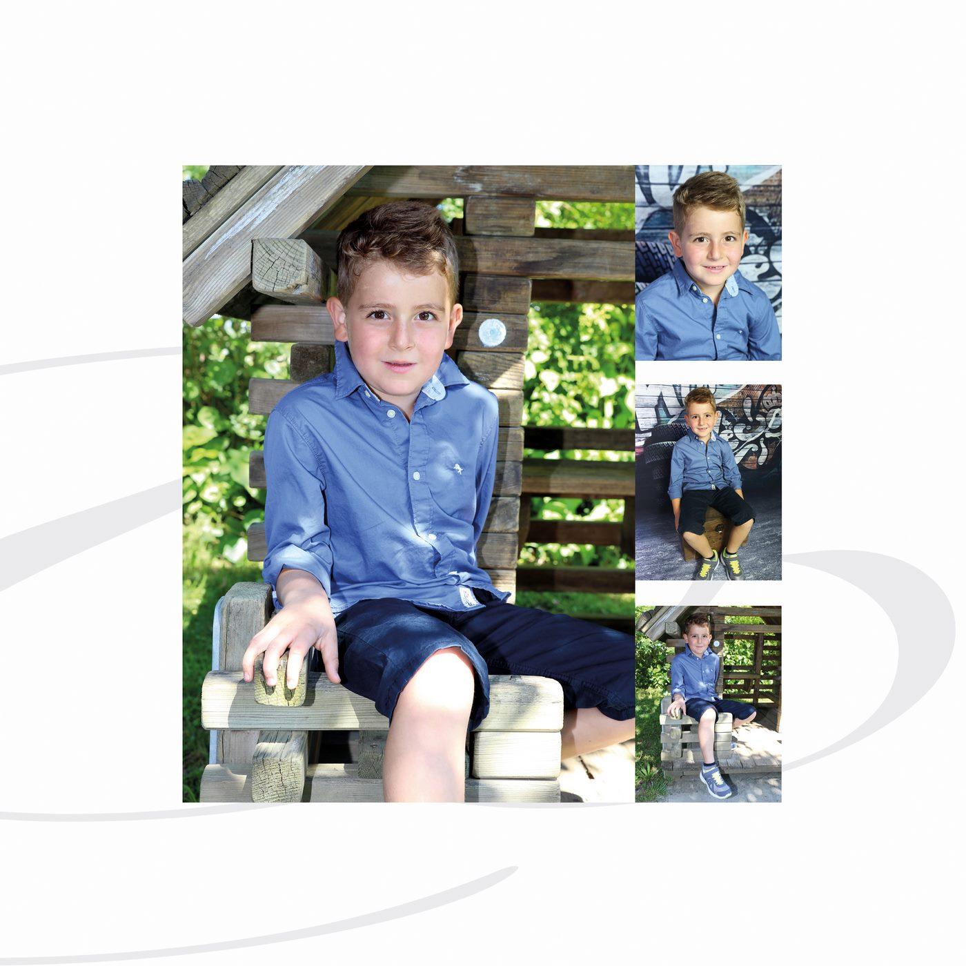 Collage mit Jungen für Kindergarten Fotoshooting