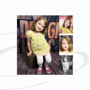 Mädchen schaut in die Kamera während Kindergarten Fotoshooting