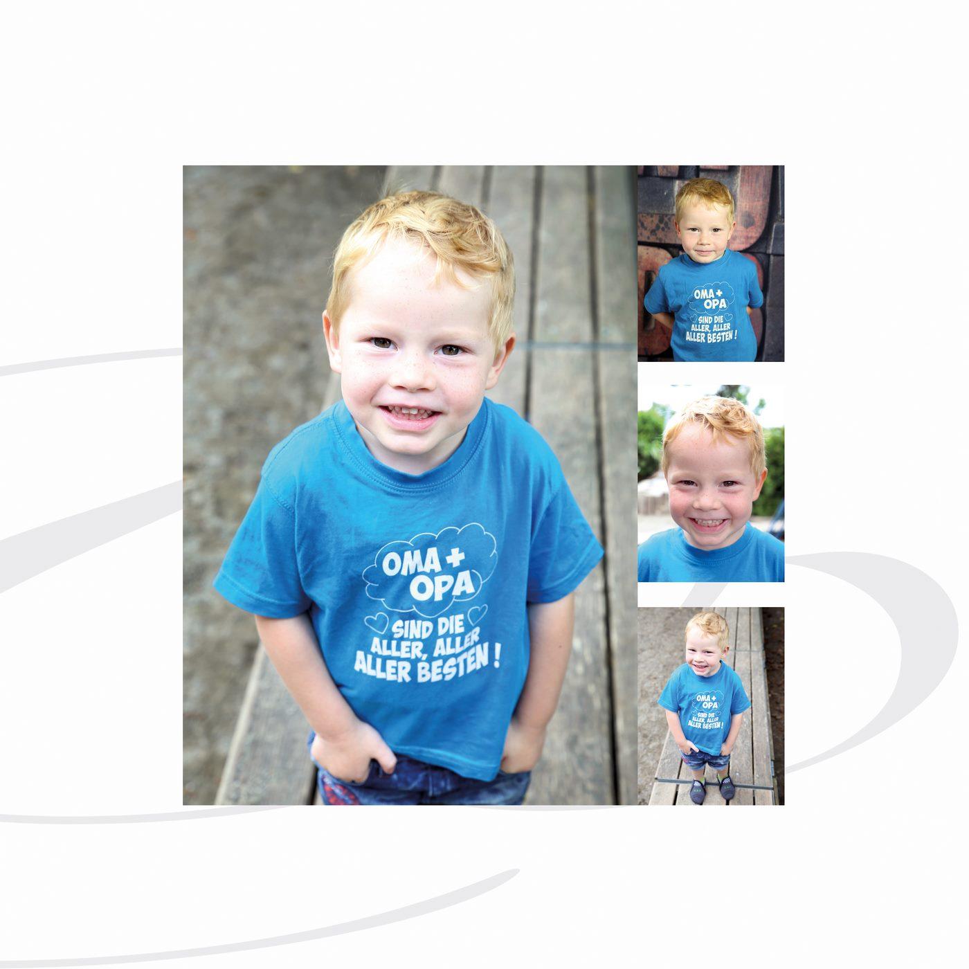 Junge hat seine Hände in der Hosentasche fotografiert im Kindergarten