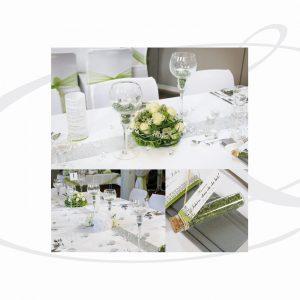 Hochzeitsdekoration in Grün Weiß