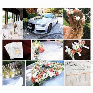 Hochzeitsdekoration und Floristik im Vintage Stil