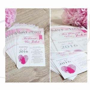 Save the date Karten in rosa