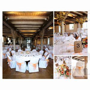 Hochzeitsdekoration im Zollhaus Ludwigshafen mit Lichterketten