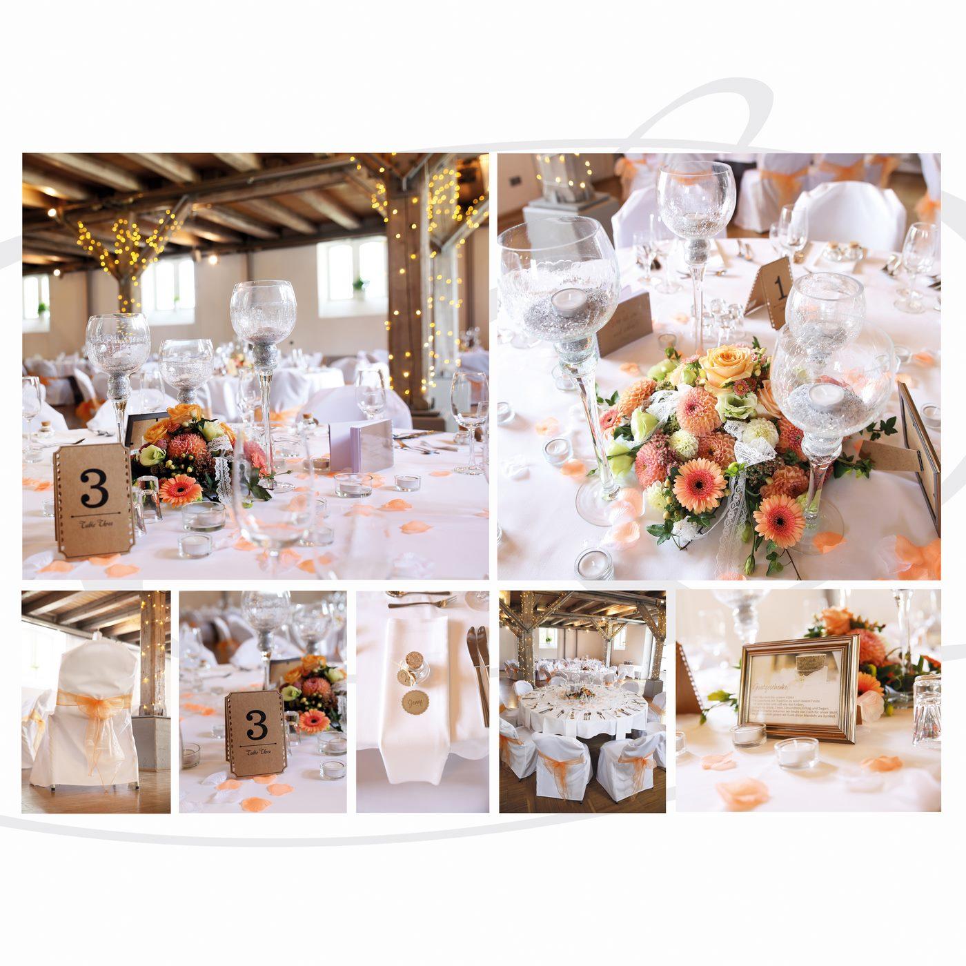 Hochzeitsdekoration im Zollhaus Ludwigshafen mit Lichterkette