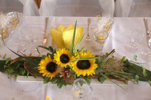 Blumengesteck aus Sonnenblumen