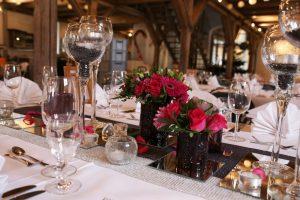 Tischdekoration im Zollhaus Ludwigshafen