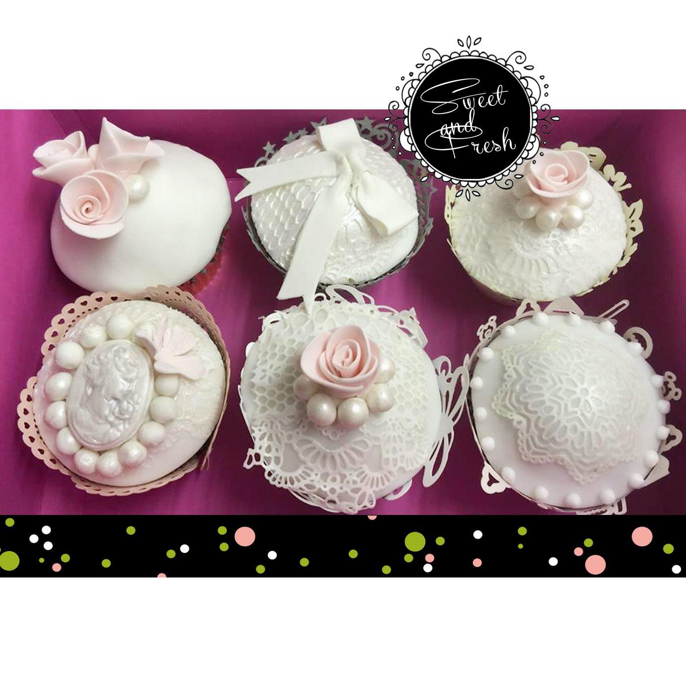 Cupcakes im Hochzeitsmotto
