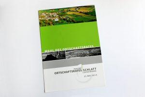 Broschüre Ortschaftsratwahl Schlatt u. Kr vorne komplett