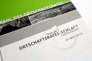 Broschüre Ortschaftsratwahl Schlatt u. Kr Nahaufnahme