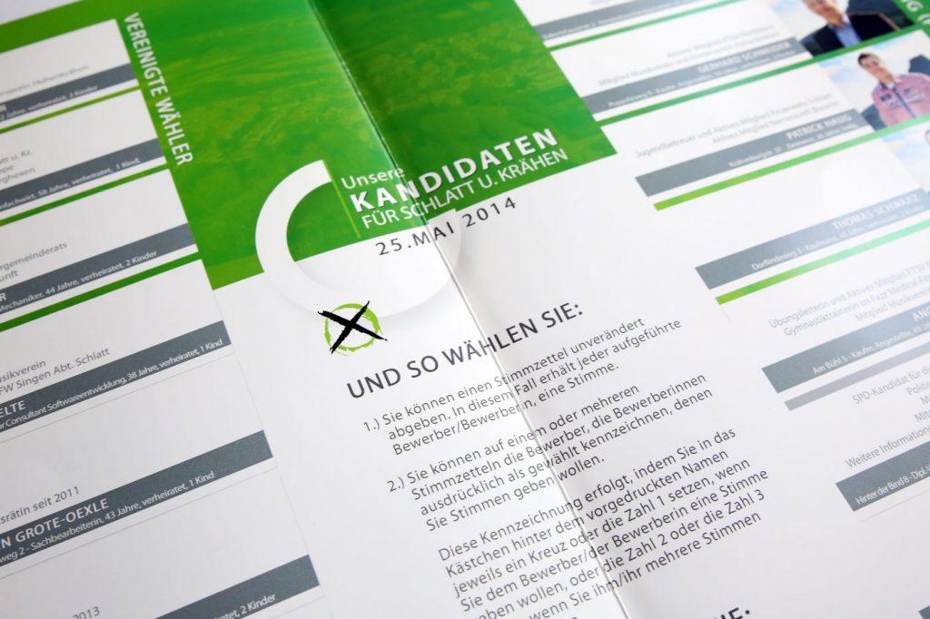 Broschüre Ortschaftsratwahl Schlatt u. Kr Detail