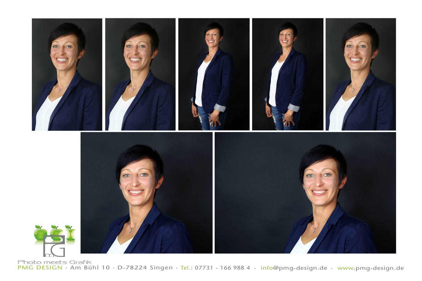 Bewerbungsfotos zu einer Collage zusammengestellt