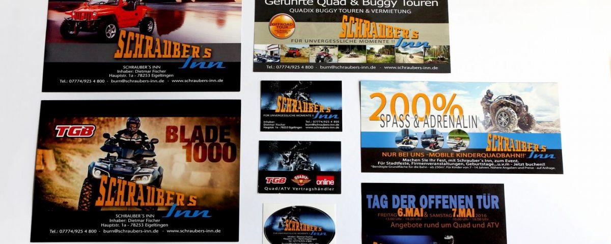 Flyer VK Karten Aufkleber