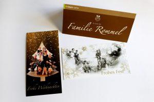 Weihnachtskarten Gasthaus Rommel