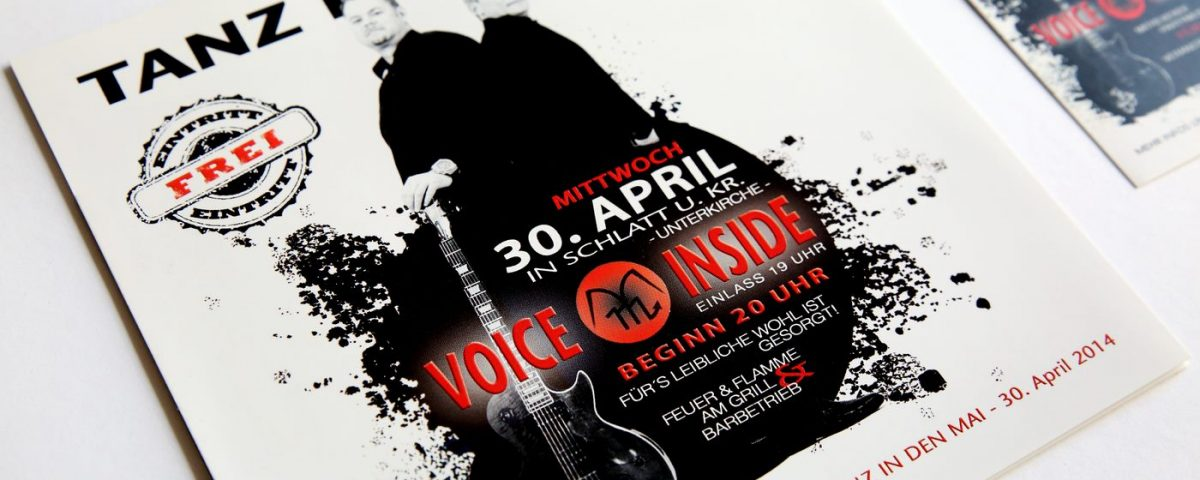 Flyer der Band Voice Inside zum Tanz in den Mai
