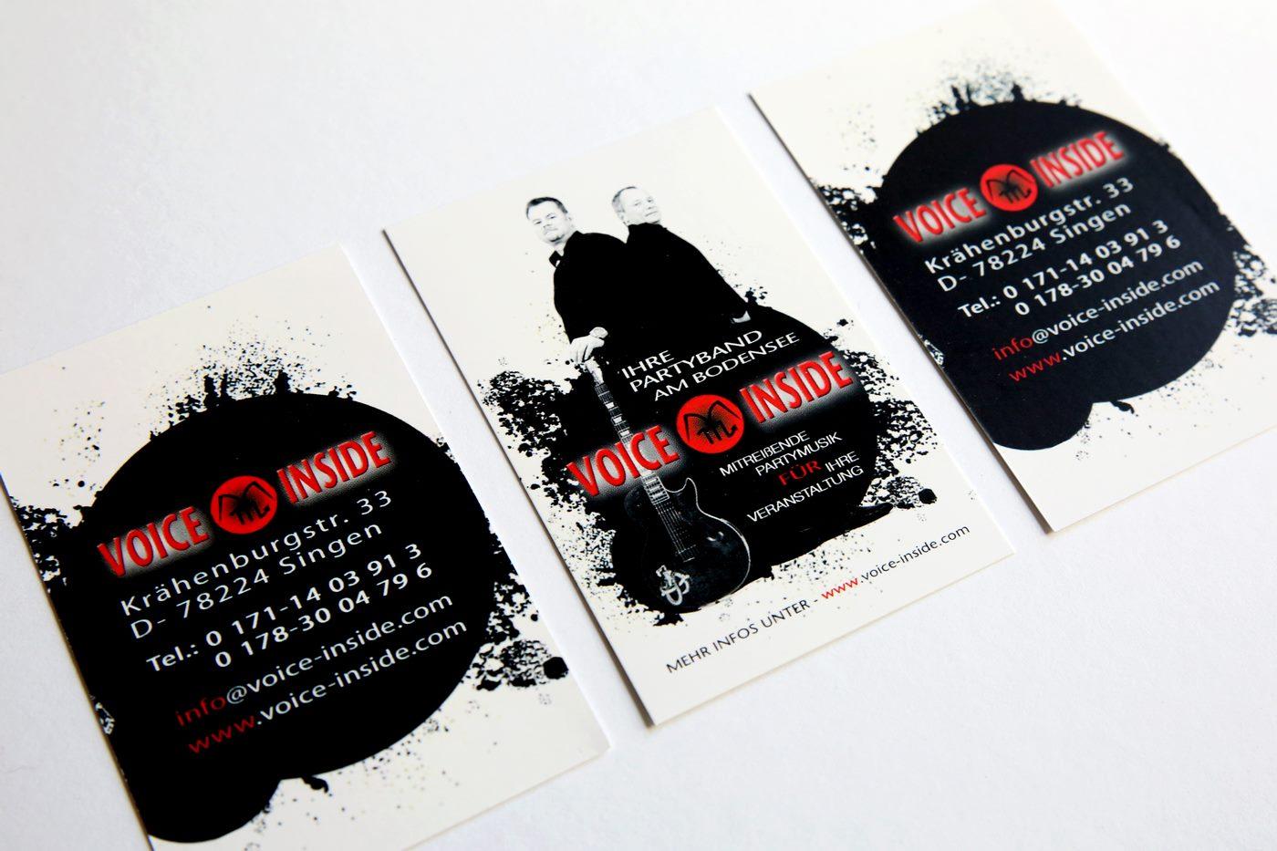 Flyer der Band Voice Inside zum Tanz in den Mai