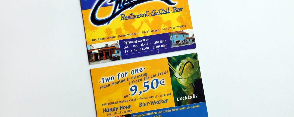 Flyer Cheers Bar Singen