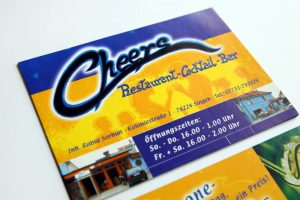 Flyer Cheers Bar Singen Nahaufnahme