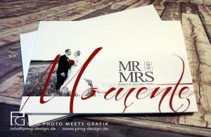 Frontansicht eines Hochzeitsfotobuch