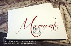 Rückseite eines hochwertigen Fotobuchs zur Hochzeit