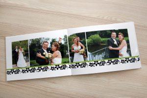Brautpaar zu sehen in Fotobuch zur Hochzeit