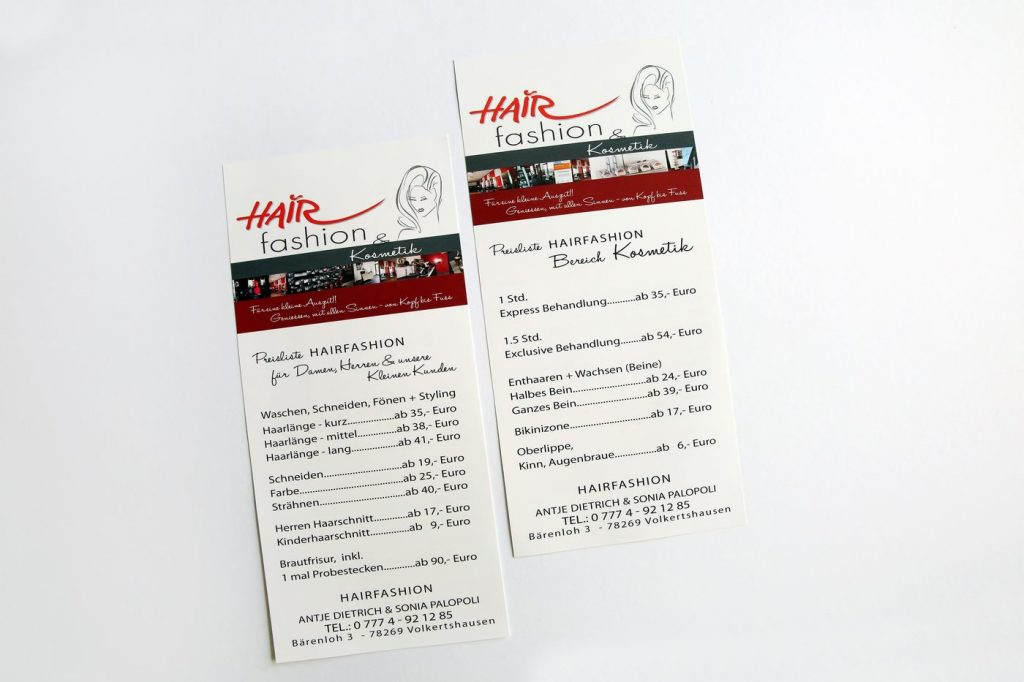Preisliste Hairfashion Volkertshausen