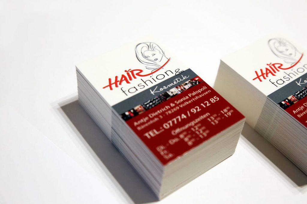 Visitenkarten Terminkarten Hairfashion Volkertshausen