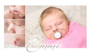 Collage zu einem Newbornshooting