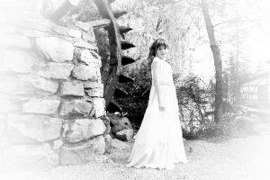 Mädchen für ihre Kommunion in der Lochmühle fotografiert