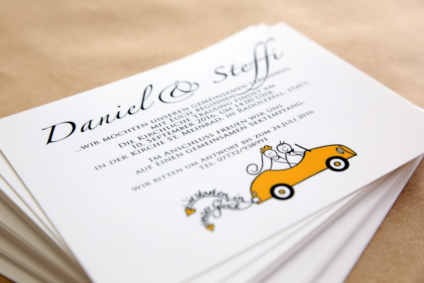 Save the Date Karte zur Hochzeit