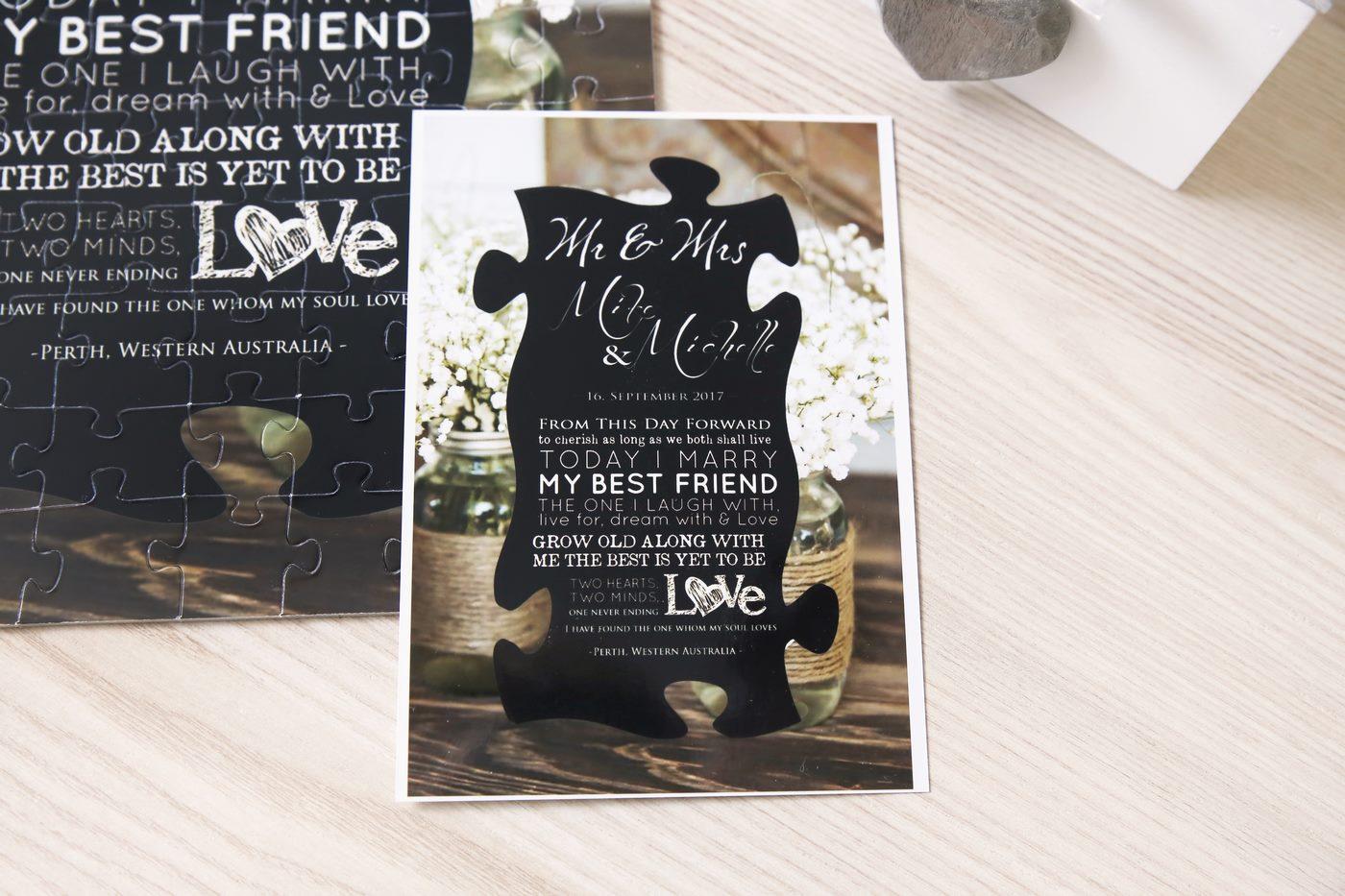 Einladungskarte als Fotopuzzle nach Foto