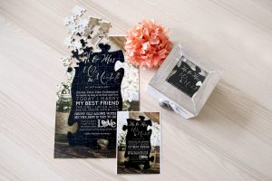 Einladungskarte als Fotopuzzle in Box