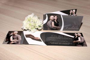 Klappkarte als Einladungskarte zur Hochzeit mit Foto