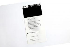 Fischer due Karte gestaltet und gedruckt