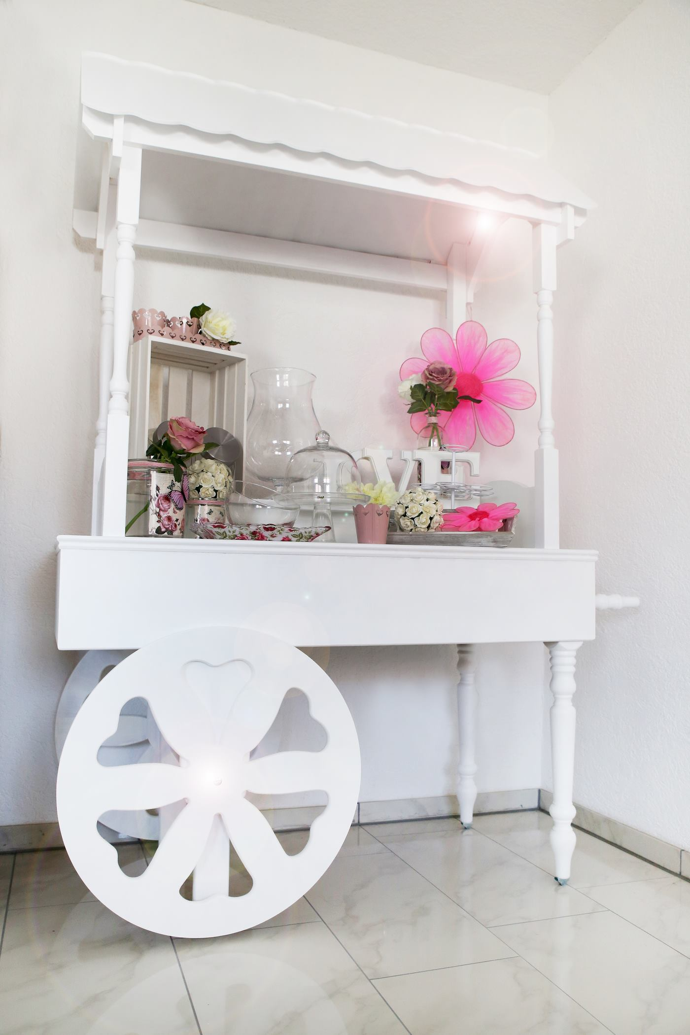 Candy Cart mit Blume