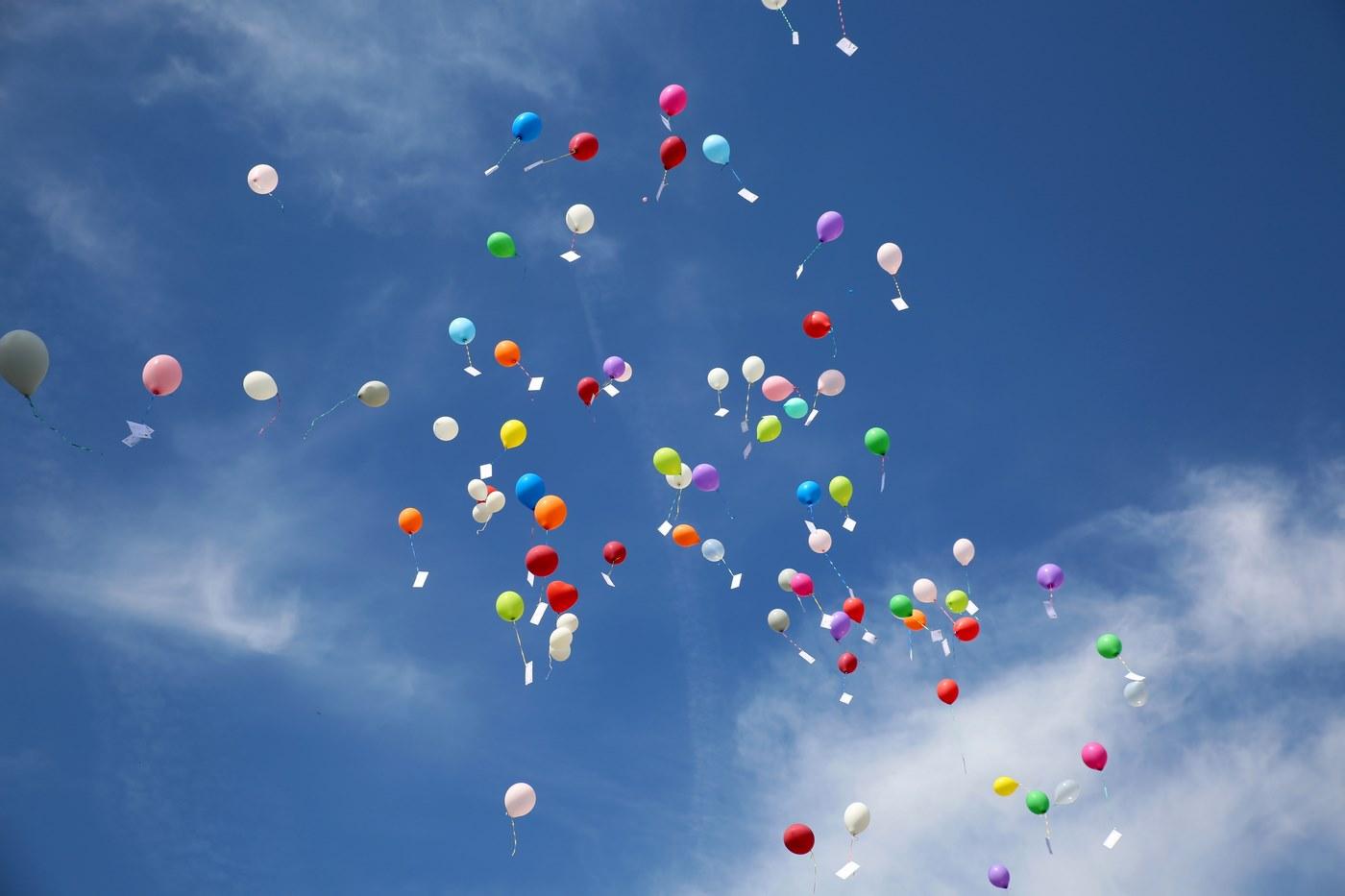 Lufballons in allen Farben