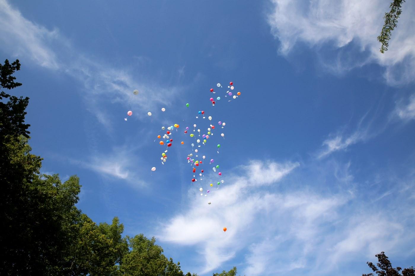 Ballons aus der Ferne