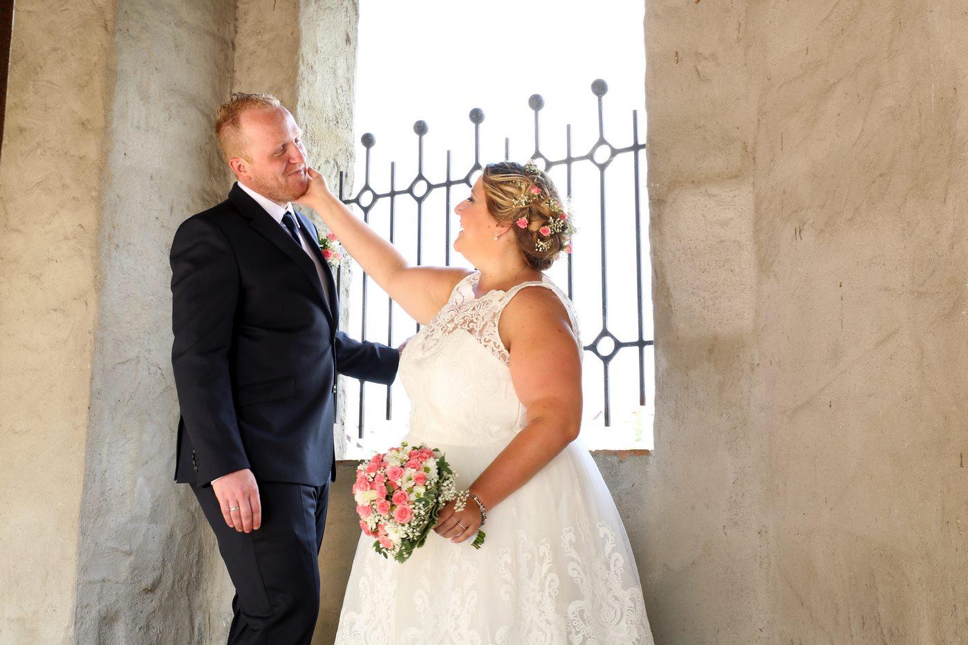 Brautpaar am Schloß