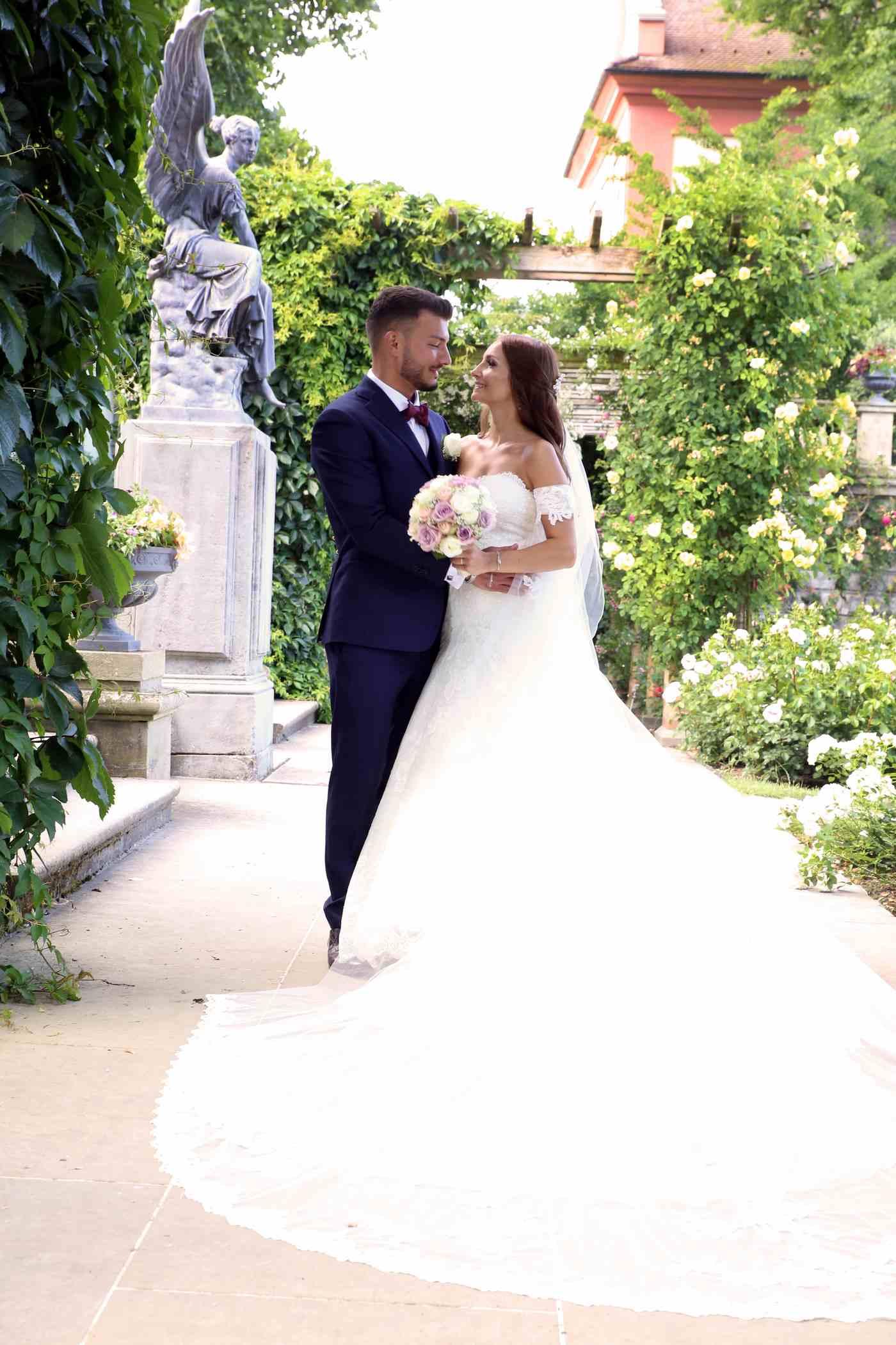 Brautpaar auf Insel Mainau